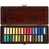 Rembrandt soft pastel half stick 30 color wooden box set 470 394 (japan import)