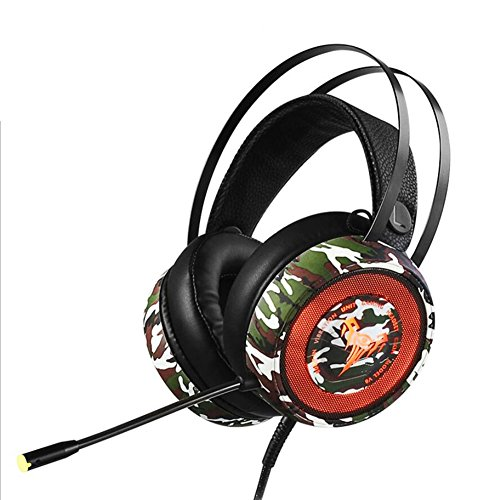 YAN Gaming-Headset für Stereo-PC, Over-Ear-Kopfhörer mit Noise Cancelling Mikrofon, Soft-Ohrpolster-Spiel Audio-und Video-Kopfhörer Voice Headse V8 Video Noise Cancelling Earbuds