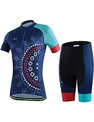 2016wsp07Design Maillot de cyclisme à manches courtes de vélo pour femmes Mesdames filles