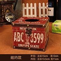 MEICHEN-Pelle Vintage impermeabile tessuto creative box fumatori in legno scatola di carta assorbente casa,grigio