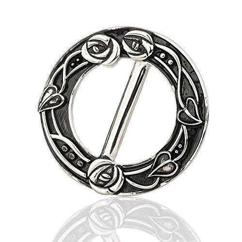 Eburya Mackintosh Glasgow Rose Schalring - Traditionell handgefertigt in Schottland (Brosche Scottish Kilt)
