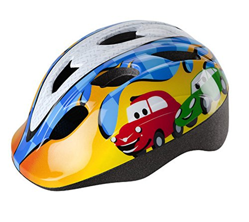 Casco CHEEKY Infantil Niño Niña Homologado para Ciclismo Patinaje y Skateboard Bicicleta Color NARANJA AZUL y BLANCO