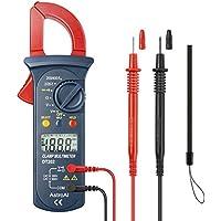 AstroAI Medidor Digital con Pinza, Multímetro de Rango Automático y Voltímetro; Medidor Probador de Voltaje, Corriente Alterna, Resistencia, Continuidad; Prueba Diodos