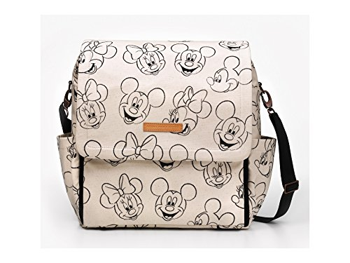 Bolso para cochecito de bebé Boxy Backpack de Petunia Pickle Bottom. Amplio y funcional, incluye cambiador, bolsillo térmico y correas para colgar del cochecito. Modelo Mickey & Minnie