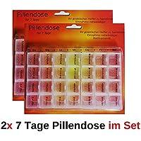 1a-becker 2X 7 Tage Pillendose Medikamenten Box Dose Tablettenbox Tablettendose transparent preisvergleich bei billige-tabletten.eu