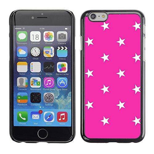Graphic4You Sterne Muster Design Harte Hülle Case Tasche Schutzhülle für Apple iPhone 6 / 6S (Rosa) Neon Rosa