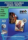 PPD Inkjet Fotopapier beidseitig beschichtet Glänzend/Matt, DIN A3, 180g/m², 100 Blatt