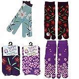 [Vigo Socken] Flip Flop Socken 3Paar Set, Sandale Tabi Socken Gr. One size, G Set