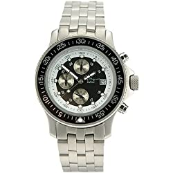 Skytimer Men Watch Chronograph 510665313-Stainless Steel Band Black Dial