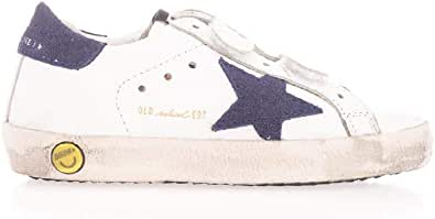 Golden Goose Luxury Fashion Ragazzo G36KS021G6 Blu Pelle Sneakers | Ss21