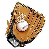 Baseball Gloves Baseball Gloves Adult/Juvenile Wild Baseball Gloves Softball Gloves (L, braun)