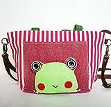 Fushenr Mode süß Frauen Handmade Stoff Frosch Muster Lunch Bag (rot)