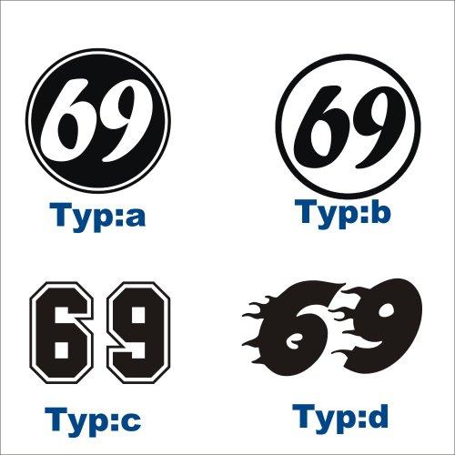 2 x Startnummer 40 x 40 cm Auto Aufkleber - Nummer + Farbe frei wählbar- 60 Farben zur Auswahl! Set Startnummern (Auto Tönung 60)