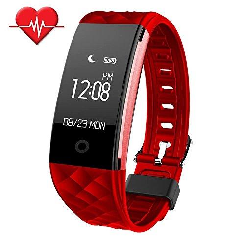 Fitness Tracker,SinoPro Herzfrequenz Monitor Smart Armband IP67 Wasserdicht Fitness-Armband mit OLED Touch Screen Step Tracker Sleep Monitor Anruf Erinnerung für iPhone Android Smartphones