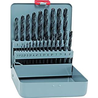 alpen HSS Sprint Spiralbohrer, kurz, DIN 338 RN, Durchmesser 1-13 x 0,5 mm als 25-teiliger Satz in der Metallkassette, 800321100