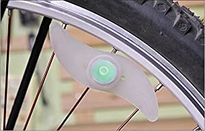 RICISUNG Hot sale Double faced bicycle spoke light wind fire wheels silica gel spoke light steel wire lamp mountain bike wheel light