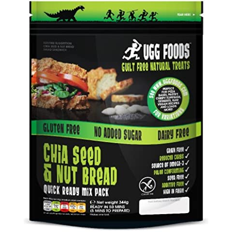 Ugg Foods - Large Chia Seed & Nut Bread Mix - 344g