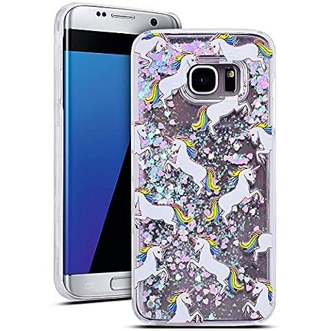 SMART LEGEND Samsung Galaxy S7 Edge Hülle Glitzer Hartschale Hardcase