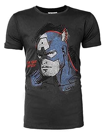 Junk Food Captain America I am your Captain Men's T-Shirt (S)