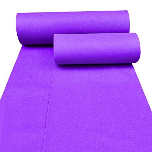 Llhy ditan tappeti e tappeti tema di celebrazione del matrimonio a tema viola di una volta mostra tessuti non tessuti monouso (spessore 2 mm, 2 colori, 2 larghezze opzionale) cc