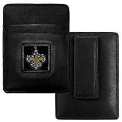 NFL Seattle Seahawks Leather Money Clip/Cardholder Packaged in Gift Box