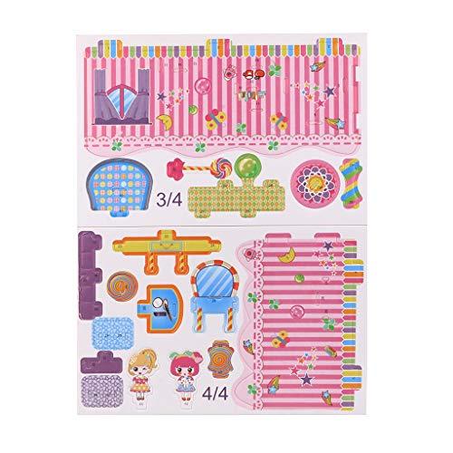 Barlingrock Schöne traumhaus 3D Puzzle Haus Beste DIY Geschenk Kinder \'s Spielzeug Spiel Holz Lernen lernspielzeug Klassische holzspielzeug für Baby Kindergarten