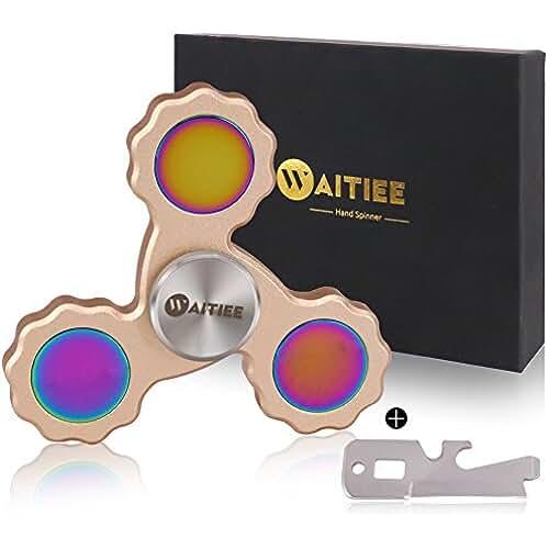 fidget spinner el nuevo juguete de moda Waitiee Fidget mano Spinner juguete - rodamientos de alta velocidad en acero inoxidable - perfecto para matar tiempo de aumentar la atención, concentración.Tiemposdevuelta2a5min.