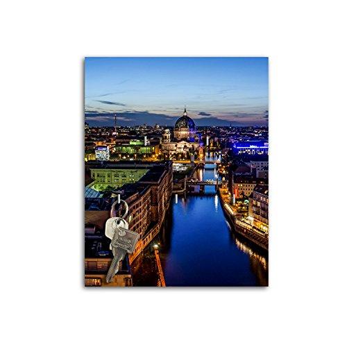 Plaque à clés avec design Berlin Nightlife Board Clé Crochets sb671