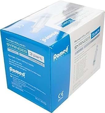 Seringues jetables par Romed Medical Choix de quantité et dimenisons (Seringue 50 ml,quantité : 25 Pièces)