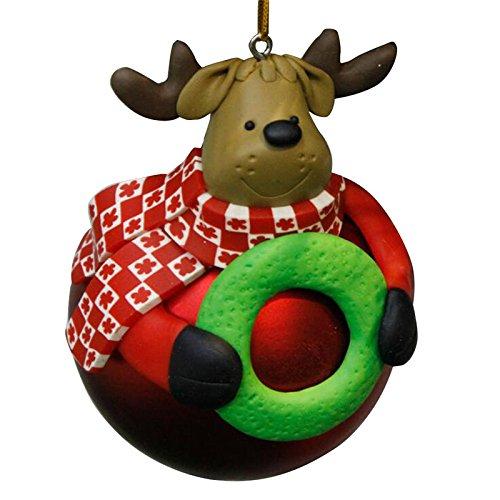 Ball Ornaments - Christmas Tree Decorative Ornaments Santa Claus Snowman Elk Bear Hanging Ball Pendant Soft Ceramic - Glass Shatterproof Ball Green Tree Ornaments Christmas -