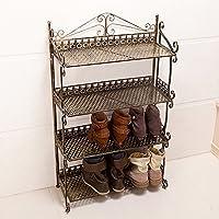 einfache pastoralen schuh schmiedeeiserne schuhregal schuh rack staubdichten - lagerung idee,bronze