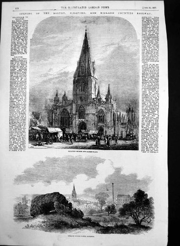 Download Marché 1857 d'Église de Sleaford de Château de Restes