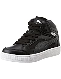 Puma Boy's Basket-Rebound V2 Hi Jr Dp Dark Shadow And Black Sneakers - 12 Kids UK/India (31 EU)