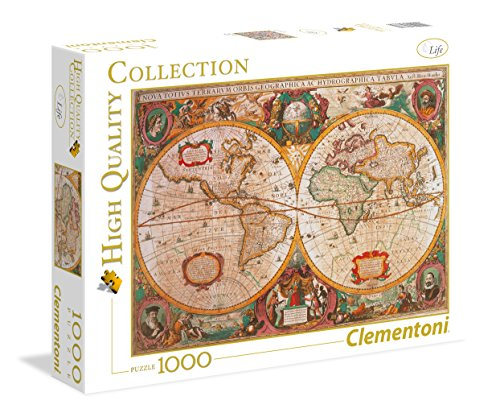 Clementoni- Mappa Antica High Quality Collection Puzzle, 1000 Pezzi, 31229