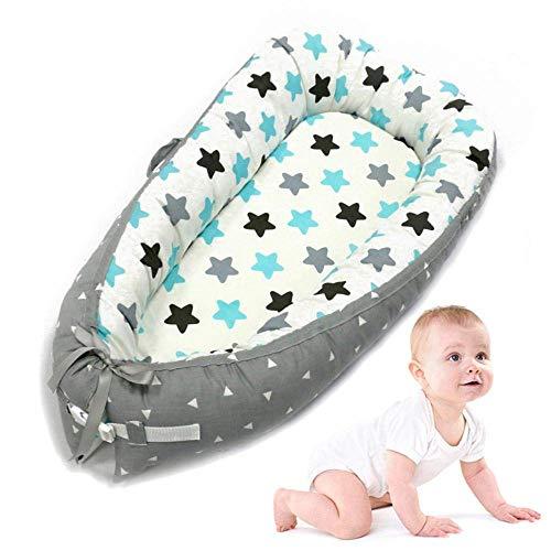 Yukefeng Cama Nido de Bebé Recién Nacido para Acurrucarse, Reductor Protector de Cuna Cama de Viaje, para Dormir(0-2 Años)