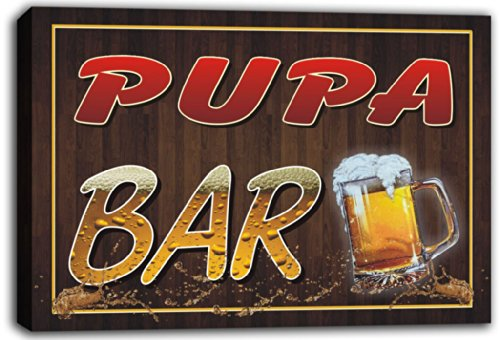 scw3-061989-pupa-name-home-bar-pub-beer-mugs-stretched-canvas-print-sign
