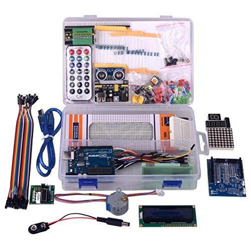 51UdZP802vL - Kuman Más Completo y Avanzado de Arduino Mega Starter Kit para Arduino Uno R3 con Guías Tutorial Detallada, MEGA2560, Mega328,5V Motor Paso a Paso, Kit Arduino con Placa