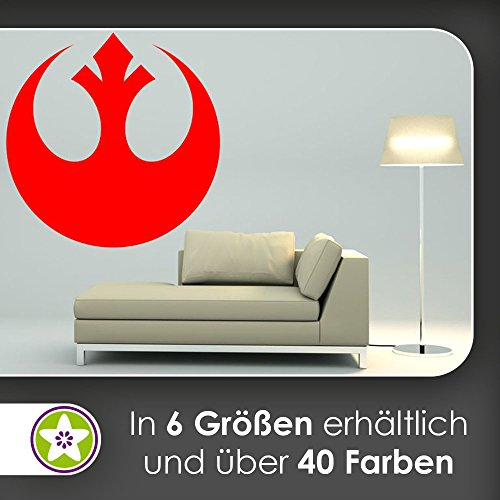 KIWISTAR Rebellen-Allianz Wappen Symbol Wandtattoo in 6 Größen - Wandaufkleber Wall Sticker