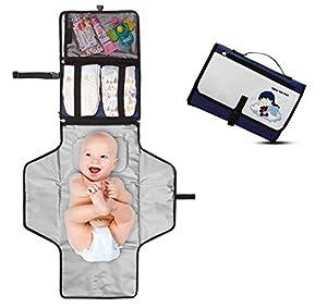 accesorios para bebe: Cambiador Portátil de Pañales para Bebé - Kit Cambiador de Viaje - Completamente...