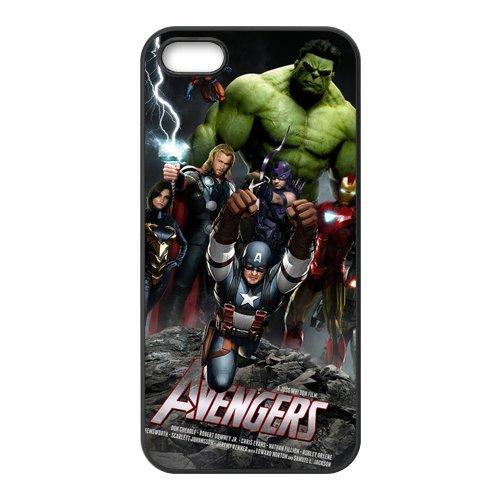 The Avengers Design Durable TPU Coque de protection Case Cover Coque de Protection pour Apple iPhone 55S, iPhone 5, iPhone 5, iPhone 55S Coque de protection Case (Blanc/Noir)