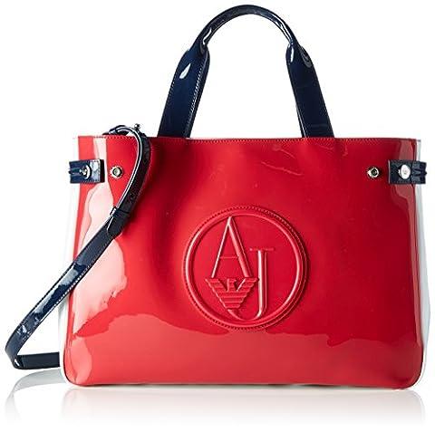 ARMANI JEANS Womens 922548CC852 Shoulder Handbag, Red/Navy, One Size