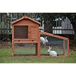 BUNNY BUSINESS Rabbit Hutch with Integrated Run and Enclosure, Rabbit Hutches Rabbit Runs 140 x 65 x 100 cm (COVER ONLY) 12