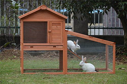BUNNY BUSINESS Rabbit Hutch with Integrated Run and Enclosure, Rabbit Hutches Rabbit Runs 140 x 65 x 100 cm (COVER ONLY) 6