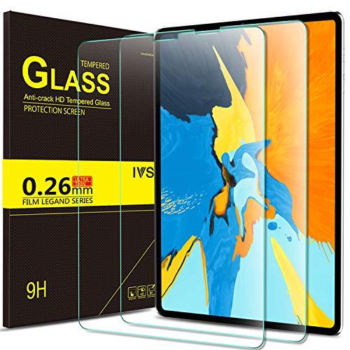 Yocktec Panzerglas Schutzfolie für ipad pro 11 2018 (kompatibel mit Face ID und Apple Pencil), ultradünne 9H Härte gehärtetes Glas Displayschutzfolie für Apple ipad pro 11 Zoll 2018 (2 Packung)