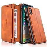 REALIKE Telefon Hülle Kompatibel mit iPhone X iPhone XS Leder Flip Brieftasche Schutzhülle für...