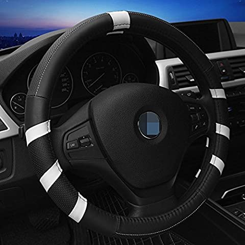 Coche Fundas para volante de cuero universal transpirable antideslizante rueda funda pantalla
