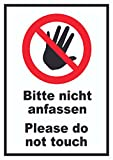HB_Druck Bitte Nicht Anfassen Schild Do Not Touch A1 Rückseite Selbstklebend