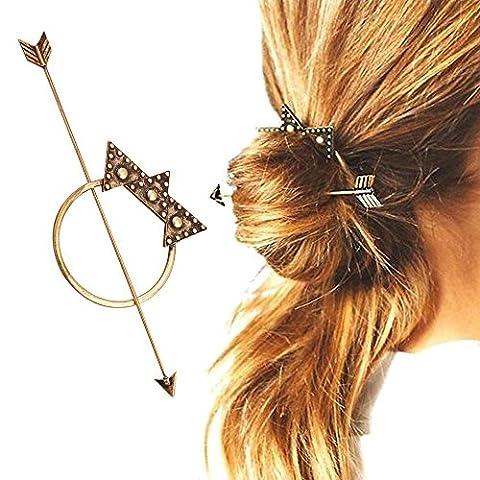 Contever® Bohemia Hair Barrette Accessory designed for Fashion Vintage Hair Clasp Hair Stick - Bronzer