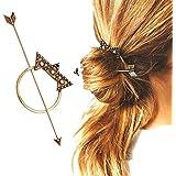 Contever® Vintage Palillos de Pelo Cabello Varillas Clip Pin Accesorios de Peinado - Fiesta / Diario / Casual (Bronceador)
