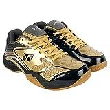 #5: YONEX Gold & Grey Power Cushion Badminton Shoes For Men & Women